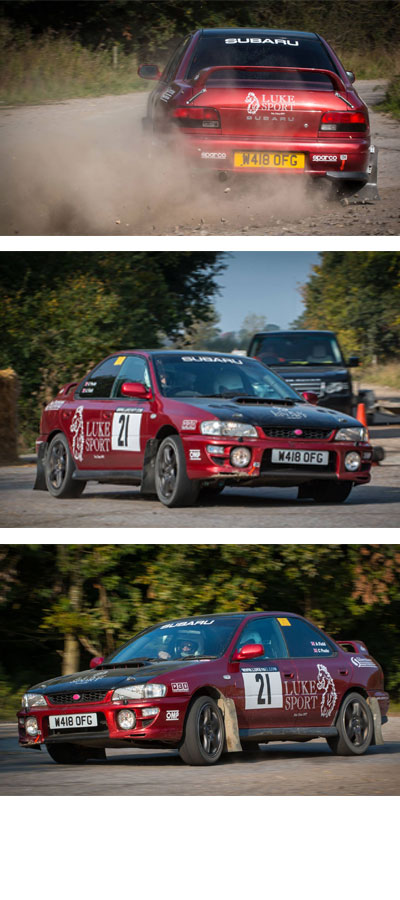 Luke sport rally team at Fullbeck