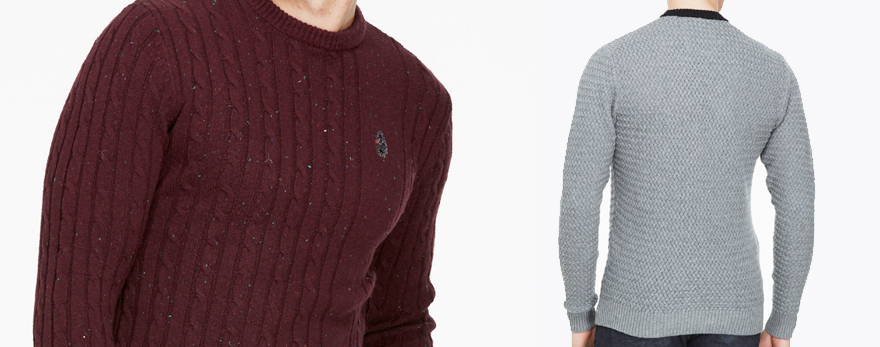luke 1977 mens designer knitwear jumpers