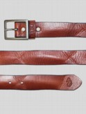WOODROW VINATGE LOOK LEATHER BELT