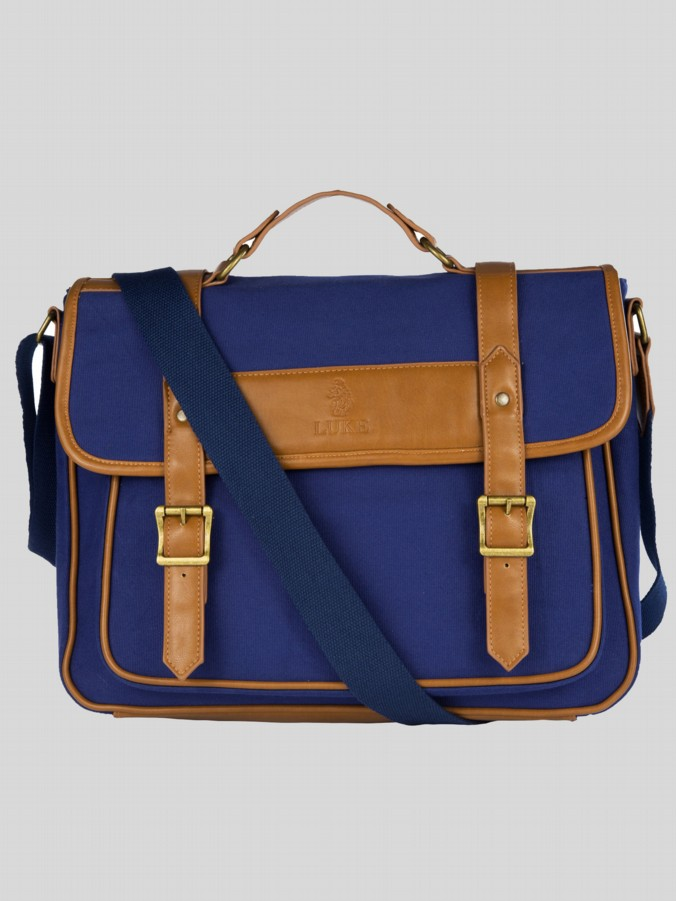 Luke 1977 Men's Satchel Accessories Wystan Navy Tan