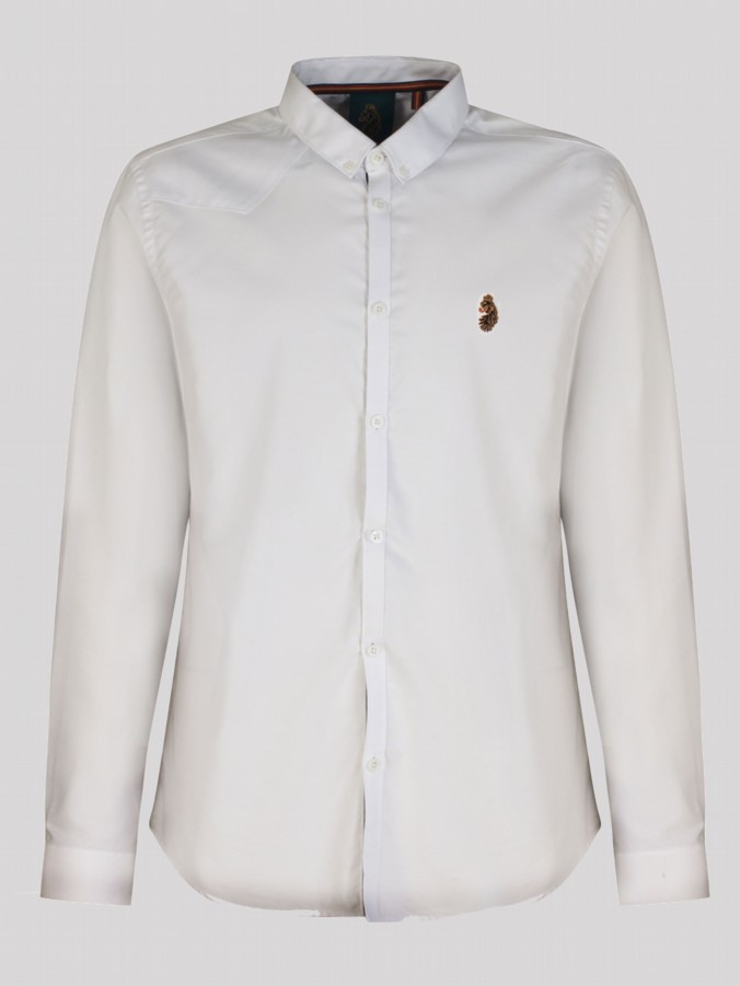 Luke 1977 designer men's Cuffys Call long sleeve shirt white