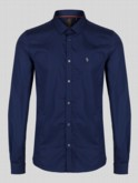 Luke 1977 mens designer skinny fit shirt midnight navy