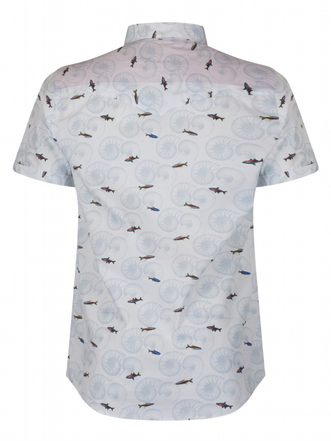 Luke 1977 menswear suchart printed short sleeve shirt