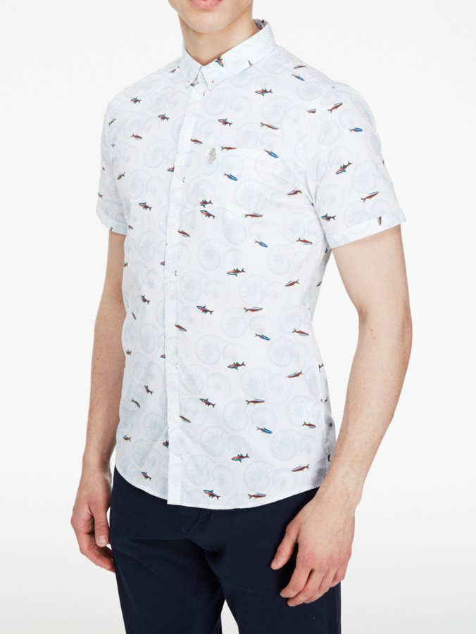 Luke 1977 designer menswear suchart printed short sleeve shirt