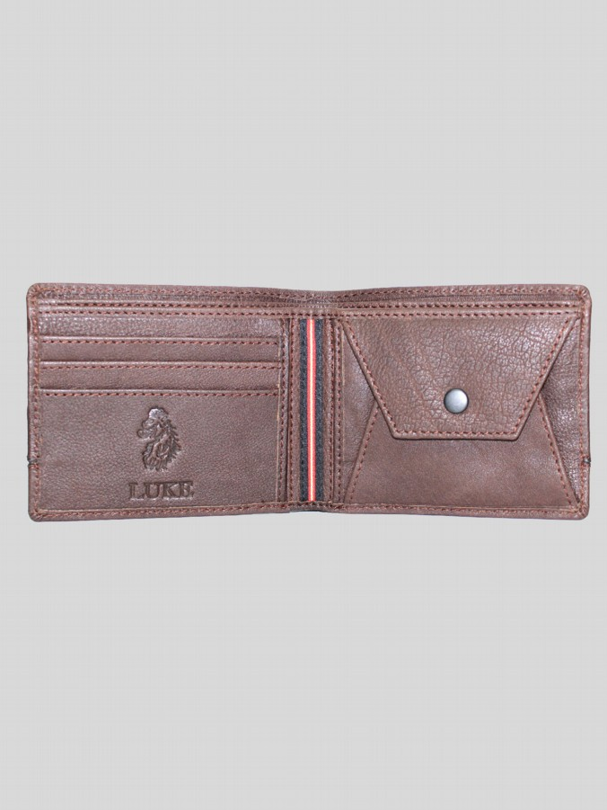 Luke 1977 men's Lloyd leather wallet brown