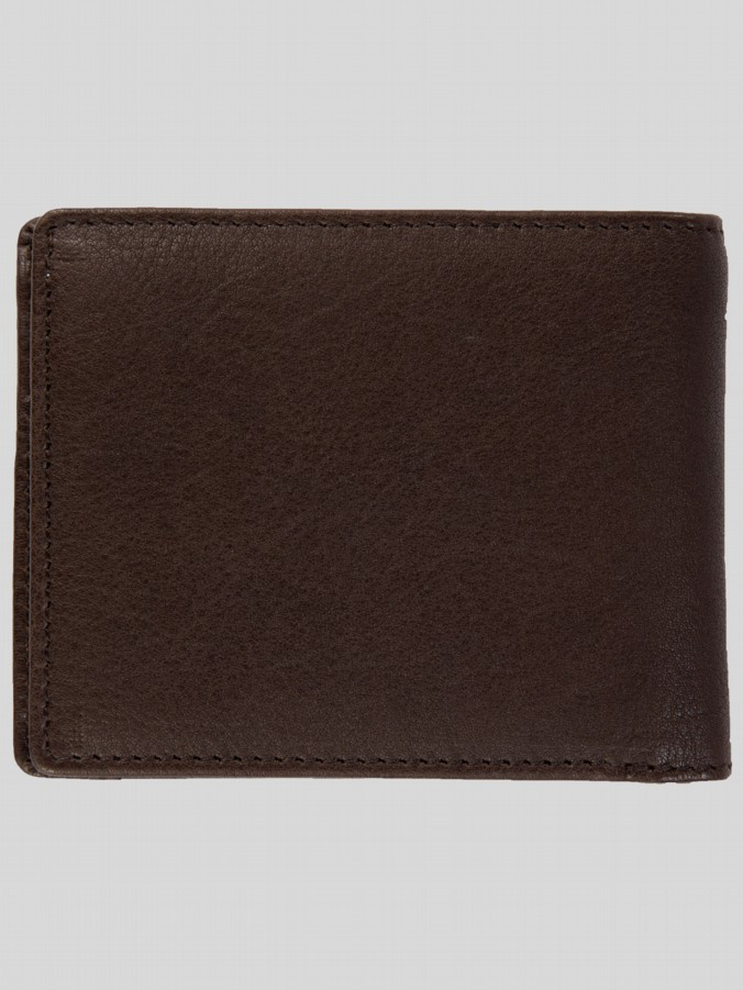 Luke 1977 Mens Designer Accessories Tom B Brown Leather Wallet