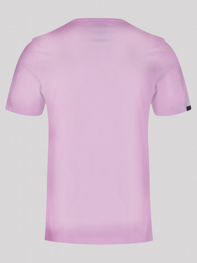 Luke 1977 mens designer sports pink tshirt