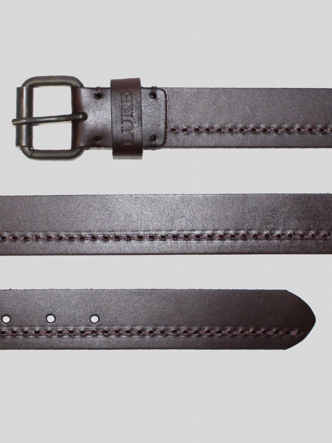 PAGE LEATHER STITCH DETAIL BELT