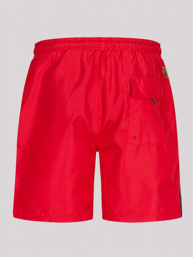 luke 1977 mens designer red swimming shorts