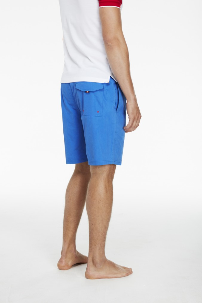 luke 1977 mens designer electric blue swimming shorts