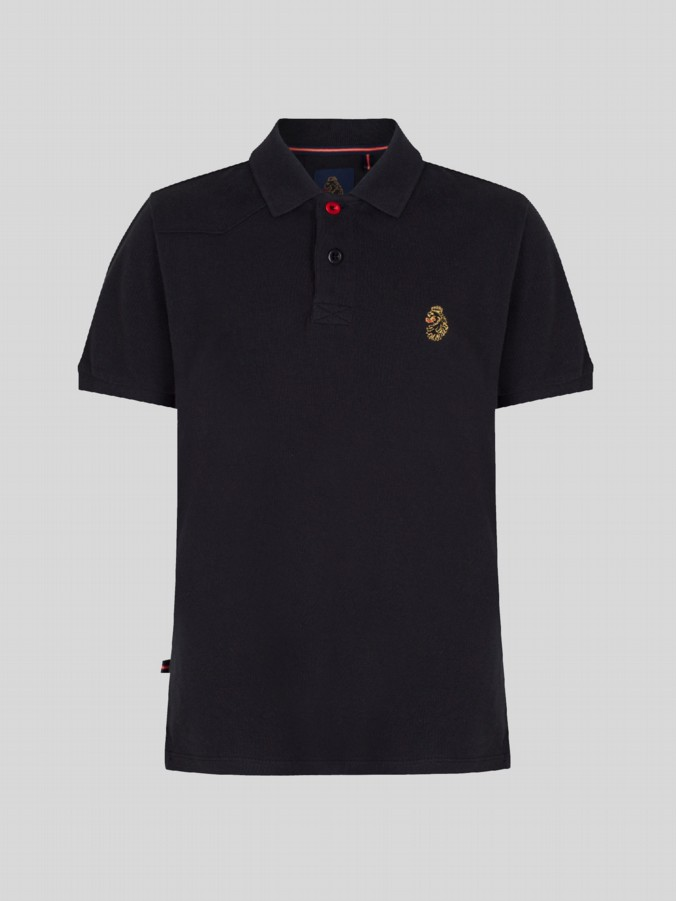 luke 1977 kids designer clothing junior luke robbie w black polo shirt