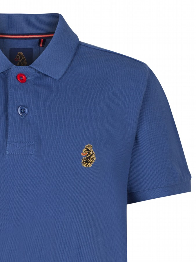 luke 1977 kids designer clothing junior luke robbie w petrol blue polo shirt