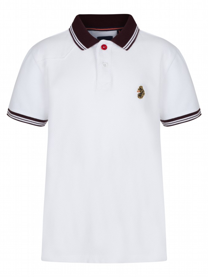 luke 1977 kids designer clothing little luke b boy white polo shirt