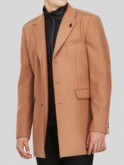Luke 1977 men's designer detachable funnel neck long coat
