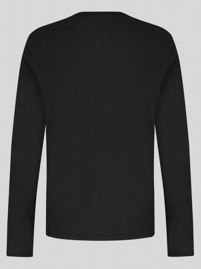 uke 1977 mens designer middle wicket black long sleeve t shirt