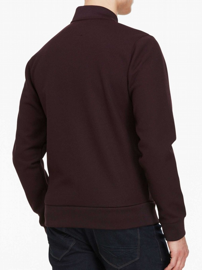 luke 1977 mens designer terra zip through sweater lux shiraz