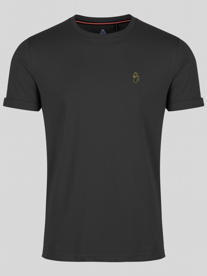 SKINNY CHARMER SLIM FIT CREW WITH GOLD LOGO