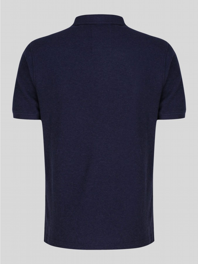 luke 1977 mens designer williams marle lux navy polo shirt