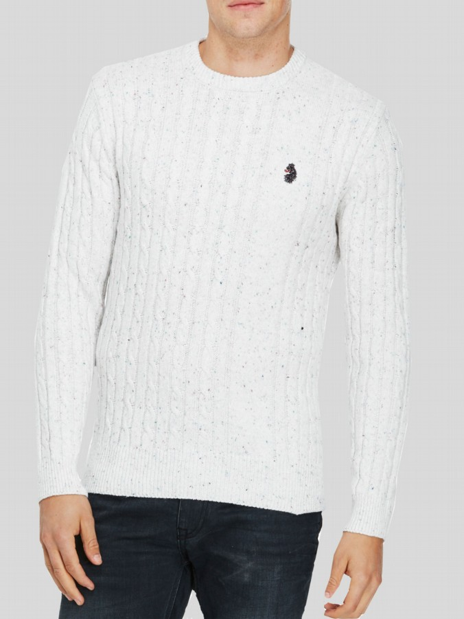 luke 1977 mens designer horton long sleeve jumper
