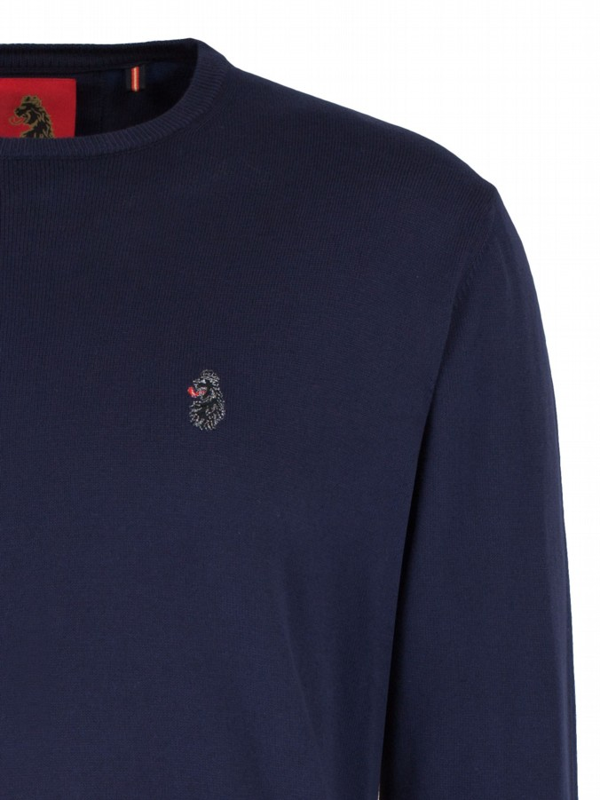 luke 1977 mens designer knitwear gerards navy jumper