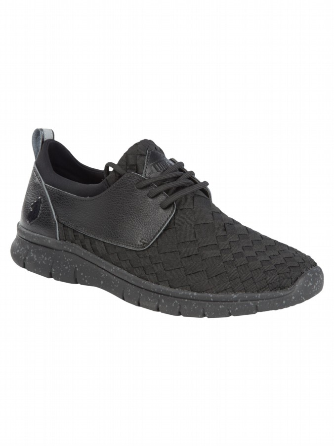 luke 1977 mens designer footwear w2 woven black trainers