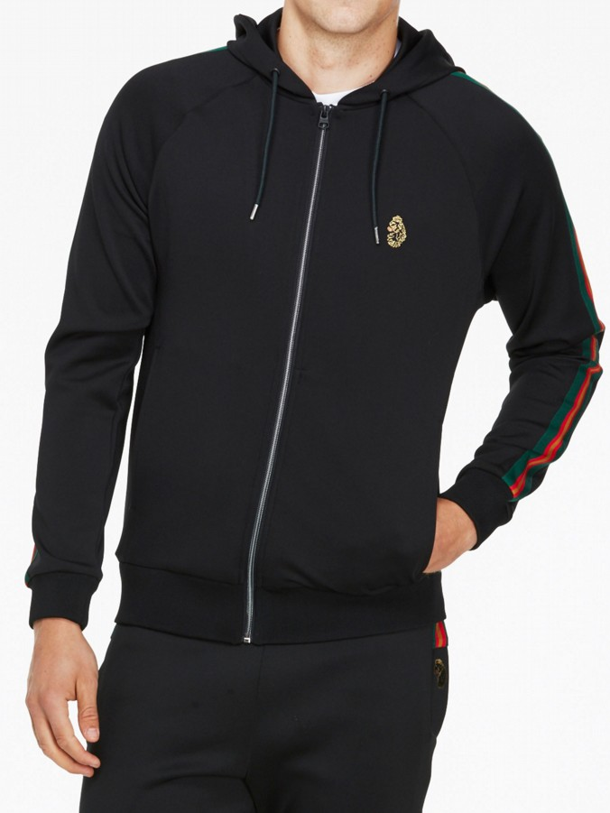 luke 1977 mens designer zip up hooded sweatshirt