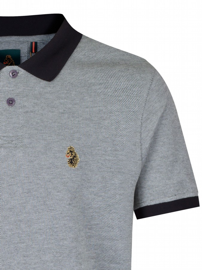 luke 1977 sport mens designer brahmers grey polo shirt