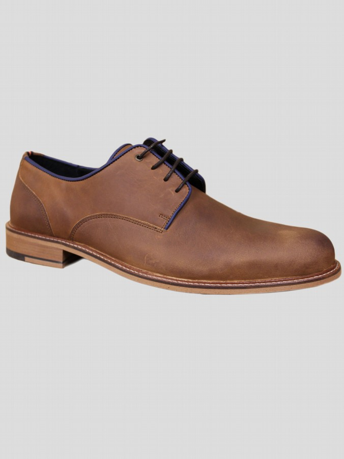 luke 1977 mens designer dark brown leather shoes