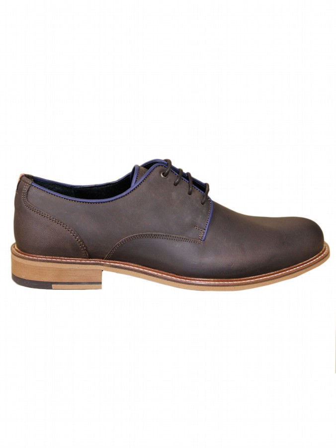luke 1977 mens designer leather brown shoe