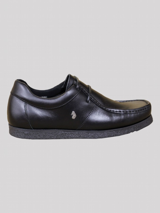 luke 1977 mens designer black leather lace up shoes