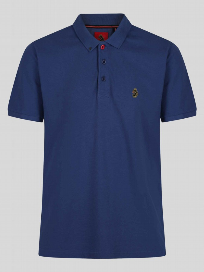 luke 1977 mens designer parched lux petrol polo shirt