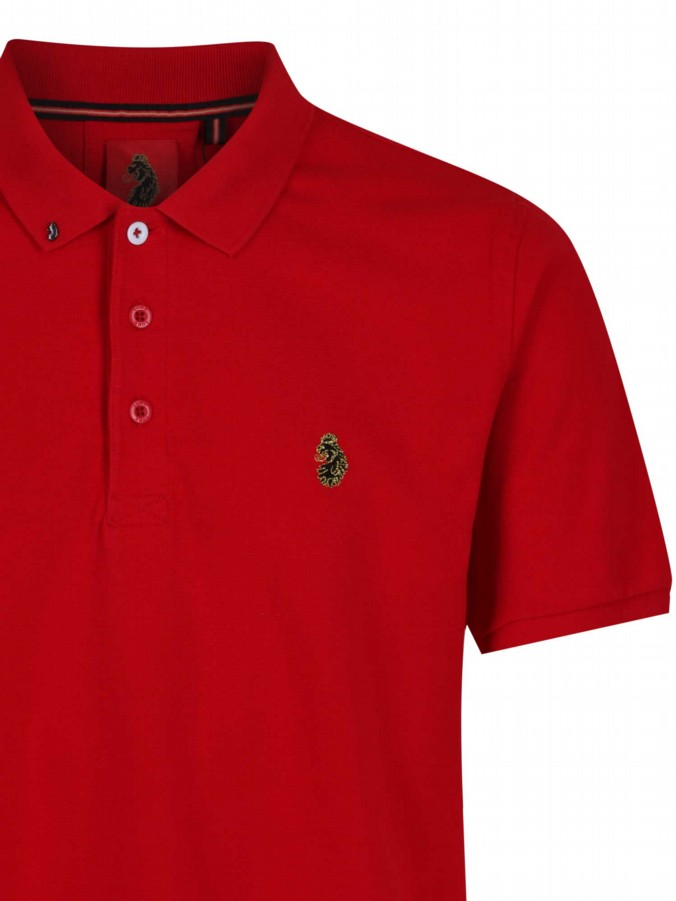 luke 1977 mens designer parched marina red polo shirt