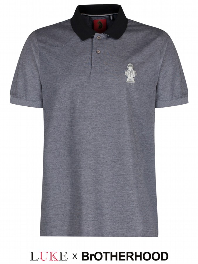 luke 1977 brotherhood collab mens designer polo shirt