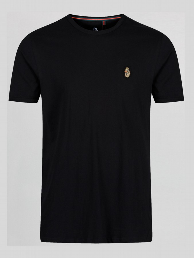luke 1977 mens designer black trouss plain t shirt