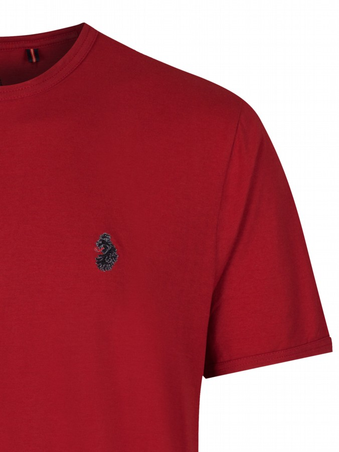 luke 1977 mens designer trouss lux red plain t shirt