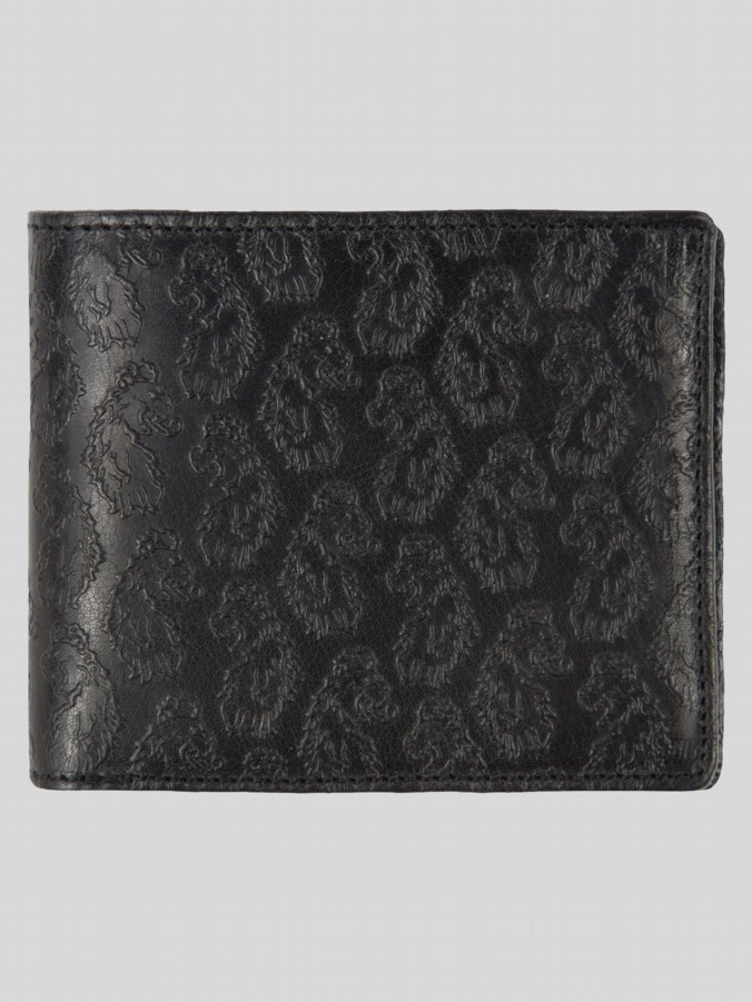 luke 1977 mens designer accessories black leather wallet