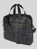 luke 1977 mens designer black quilted laptop bag