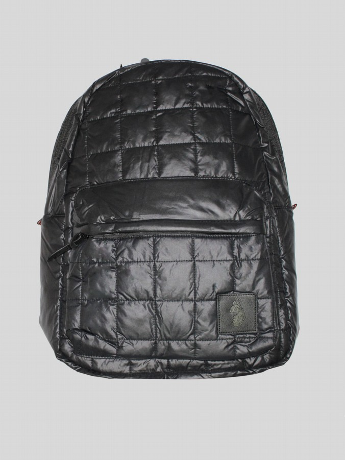luke 1977 mens designer black quilted backpack