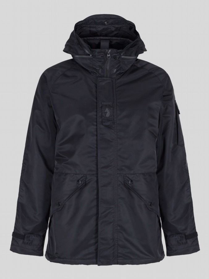 luke 1977 mens designer black technical field jacket
