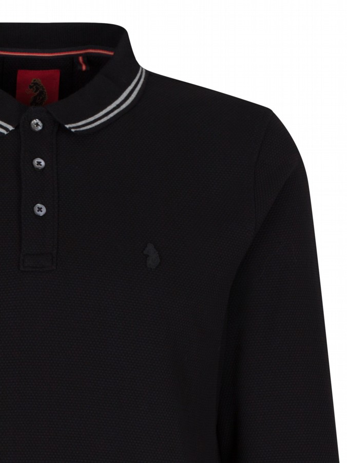 luke 1977 mens designer well long honey polo shirt