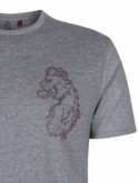 luke 1977 mens designer rob fox logo grey tshirt
