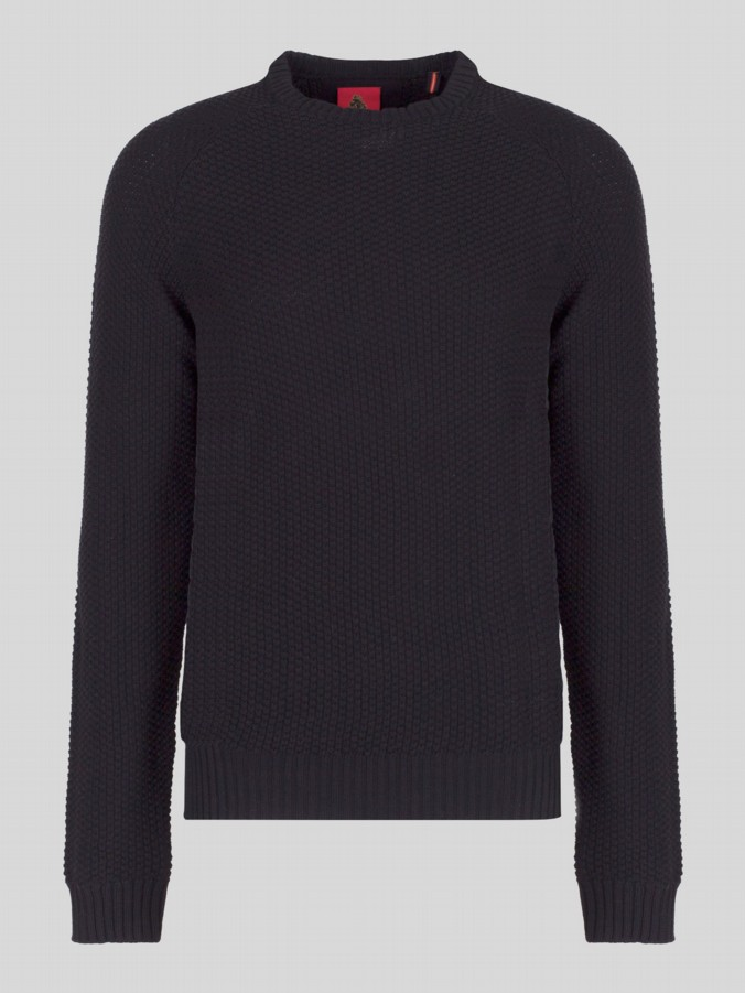 luke 1977 mens designer black knitted jumper