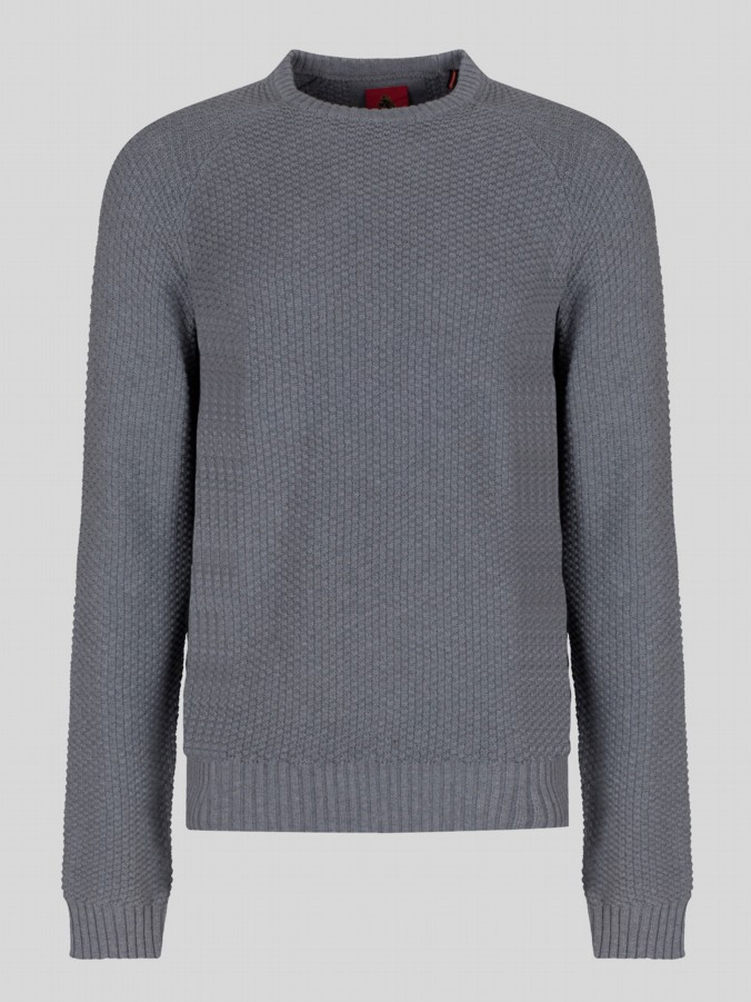 luke 1977 mens designer grey knitted jumper