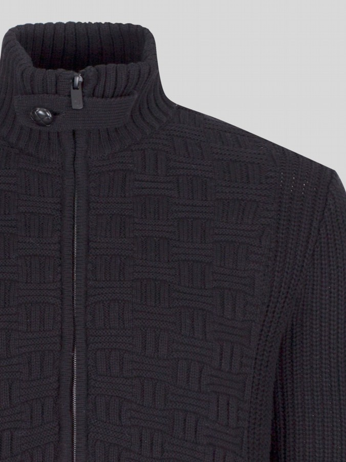 luke 1977 mens designer black knitwear
