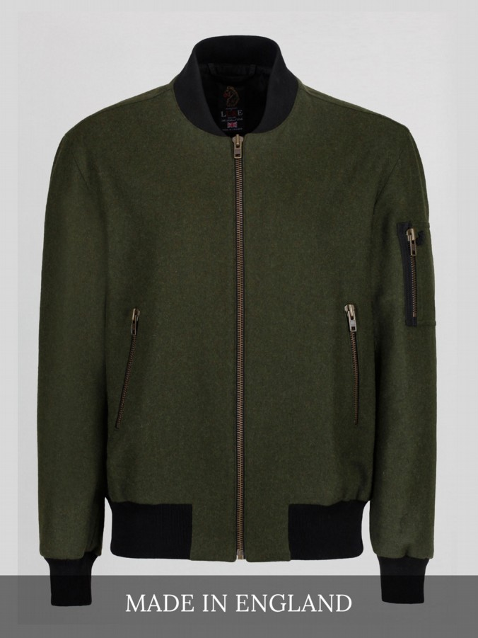 luke 1977 made in england collection wool bomber jacket