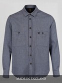 luke 1977 made in england collection midnight blue shirt jacket