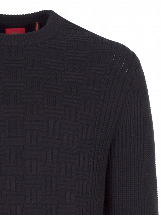 luke 1977 mens designer computer knit black knitted jumper