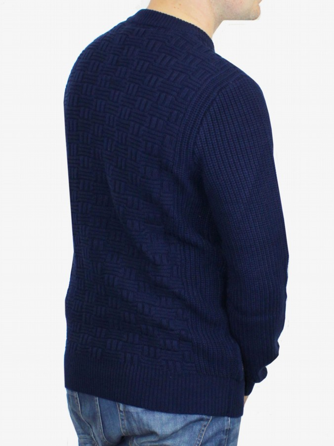luke 1977 mens designer lux midnight computer knit jumper