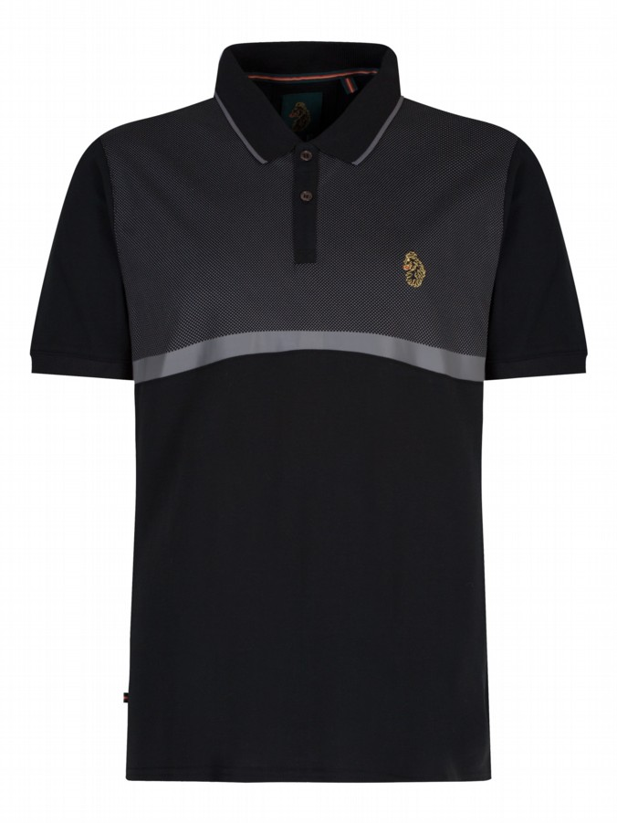 luke 1977 mens designer black modern classik polo shirt