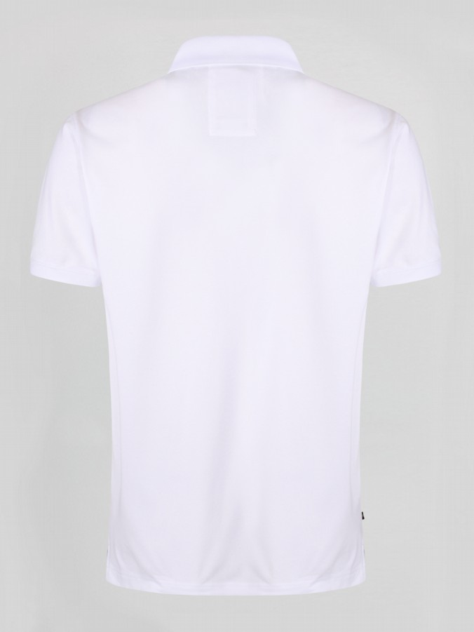 luke 1977 mens designer white silk cotton polo shirt